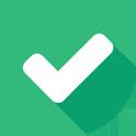 icon van een okay-teken: een groene V in een cirkel.